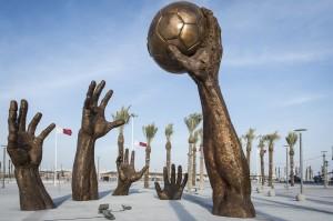 Handball-Skulptur